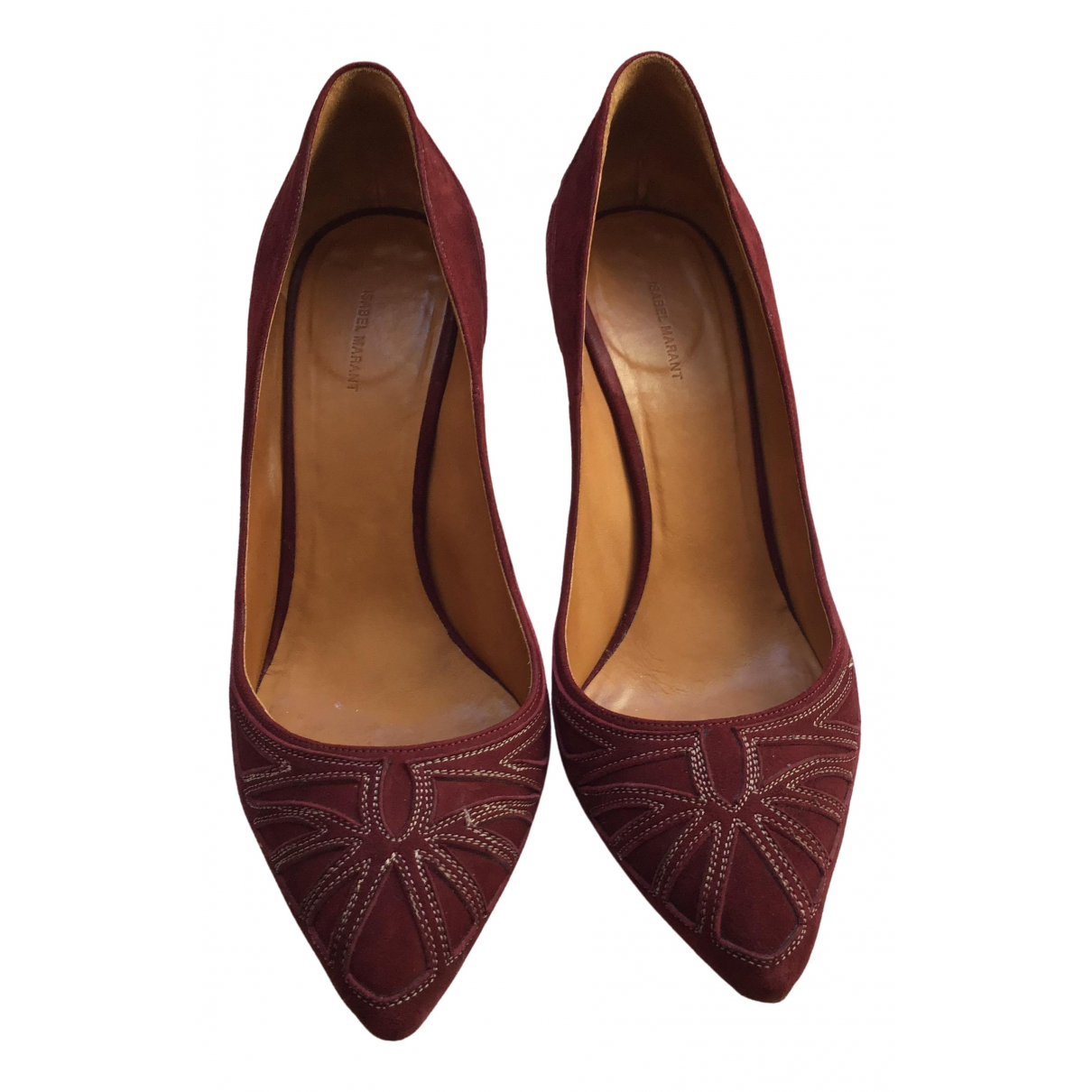 Isabel Marant N Burgundy Leather Heels for Women 39 EU