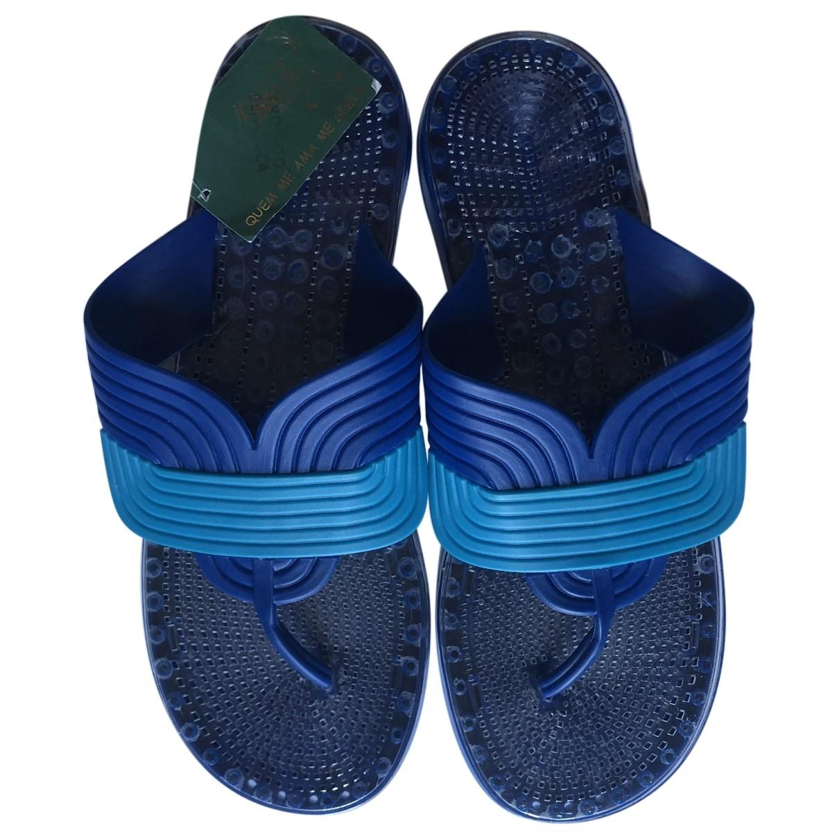 Non Signe / Unsigned \N Sandalen in  Blau Kunststoff