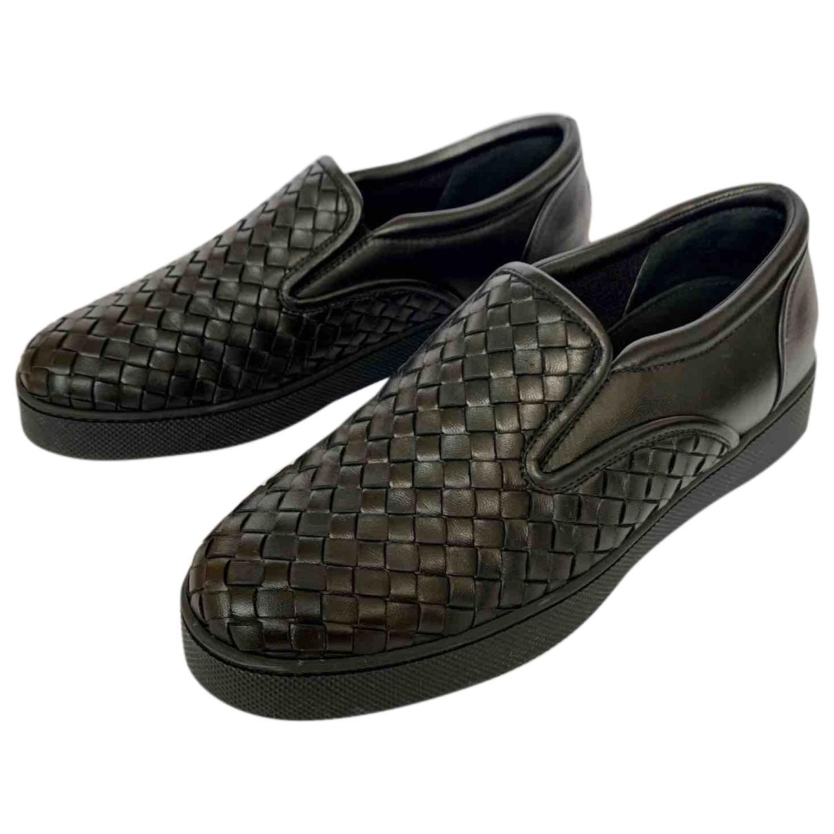 Bottega Veneta \N Sneakers in  Schwarz Leder