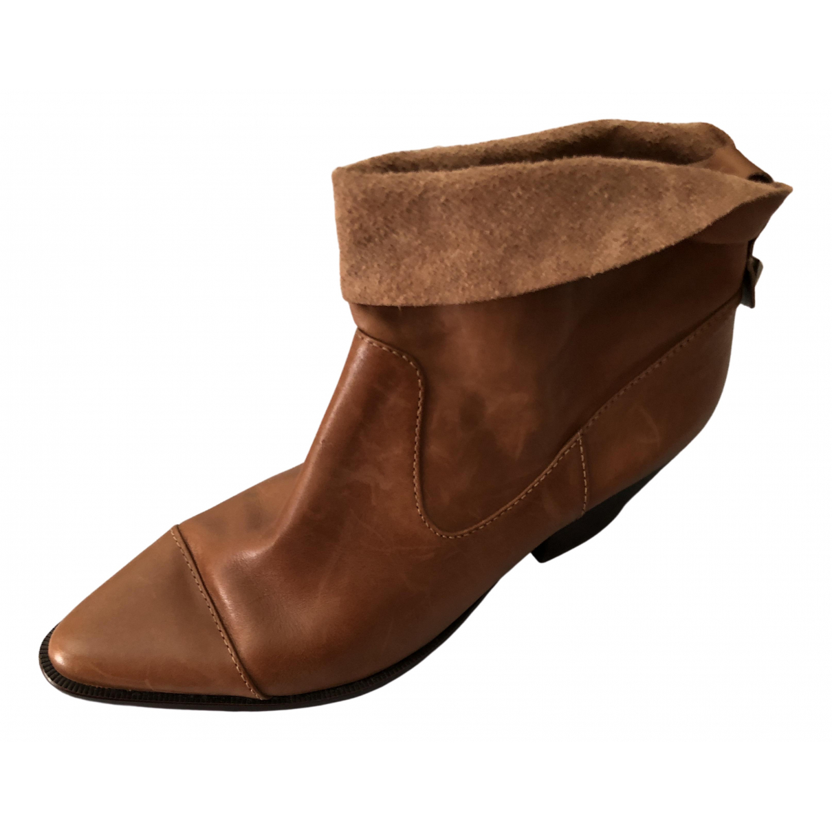 Schutz \N Brown Pony-style calfskin Ankle boots for Women 41 EU