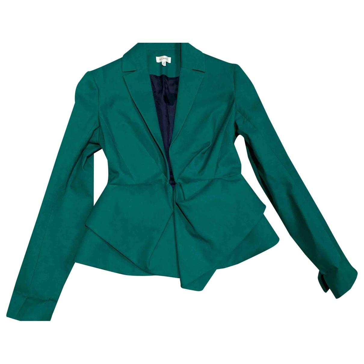 Delpozo - Veste   pour femme en coton - vert