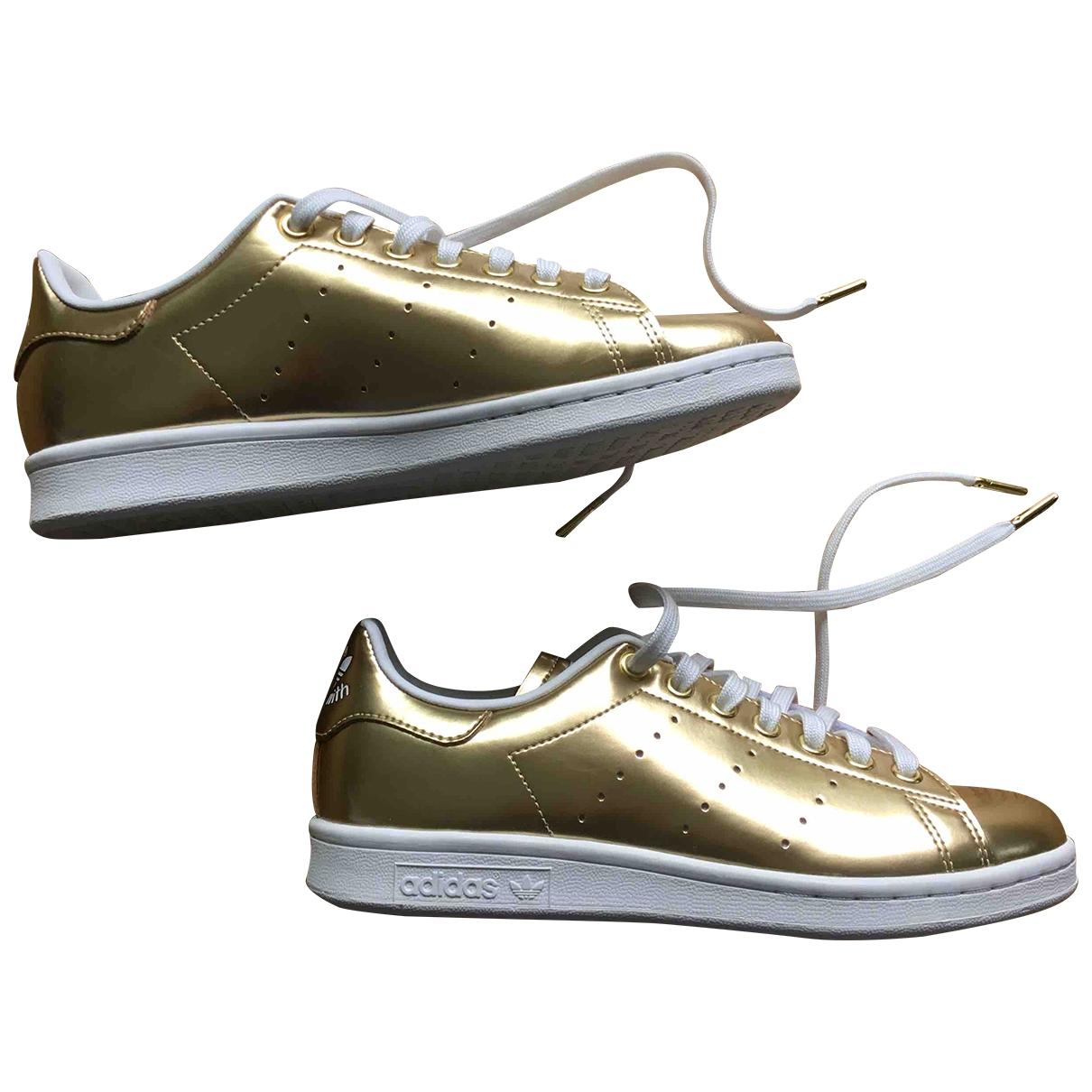 Adidas - Baskets Stan Smith pour femme en cuir - dore