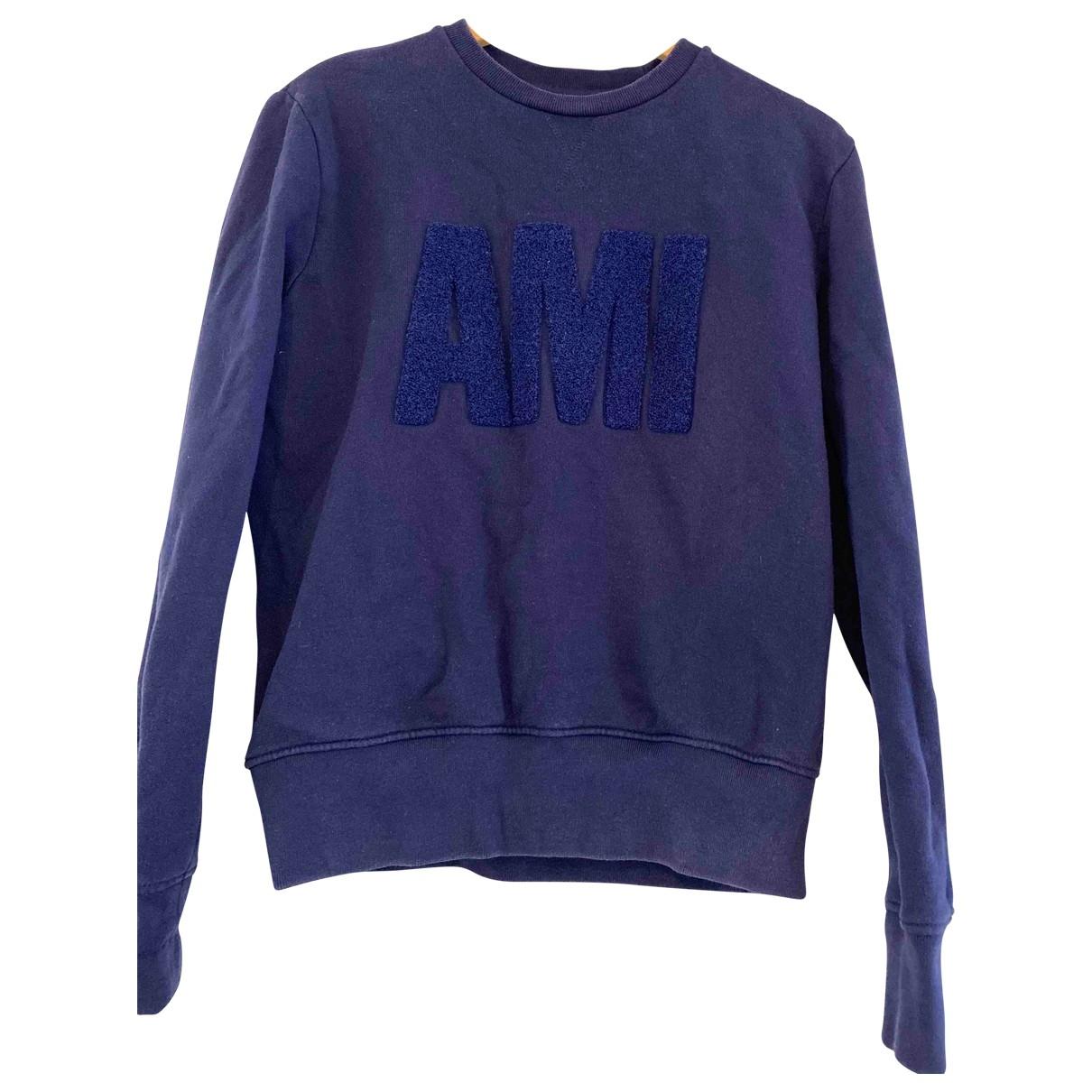 Ami \N Pullover.Westen.Sweatshirts  in  Blau Baumwolle