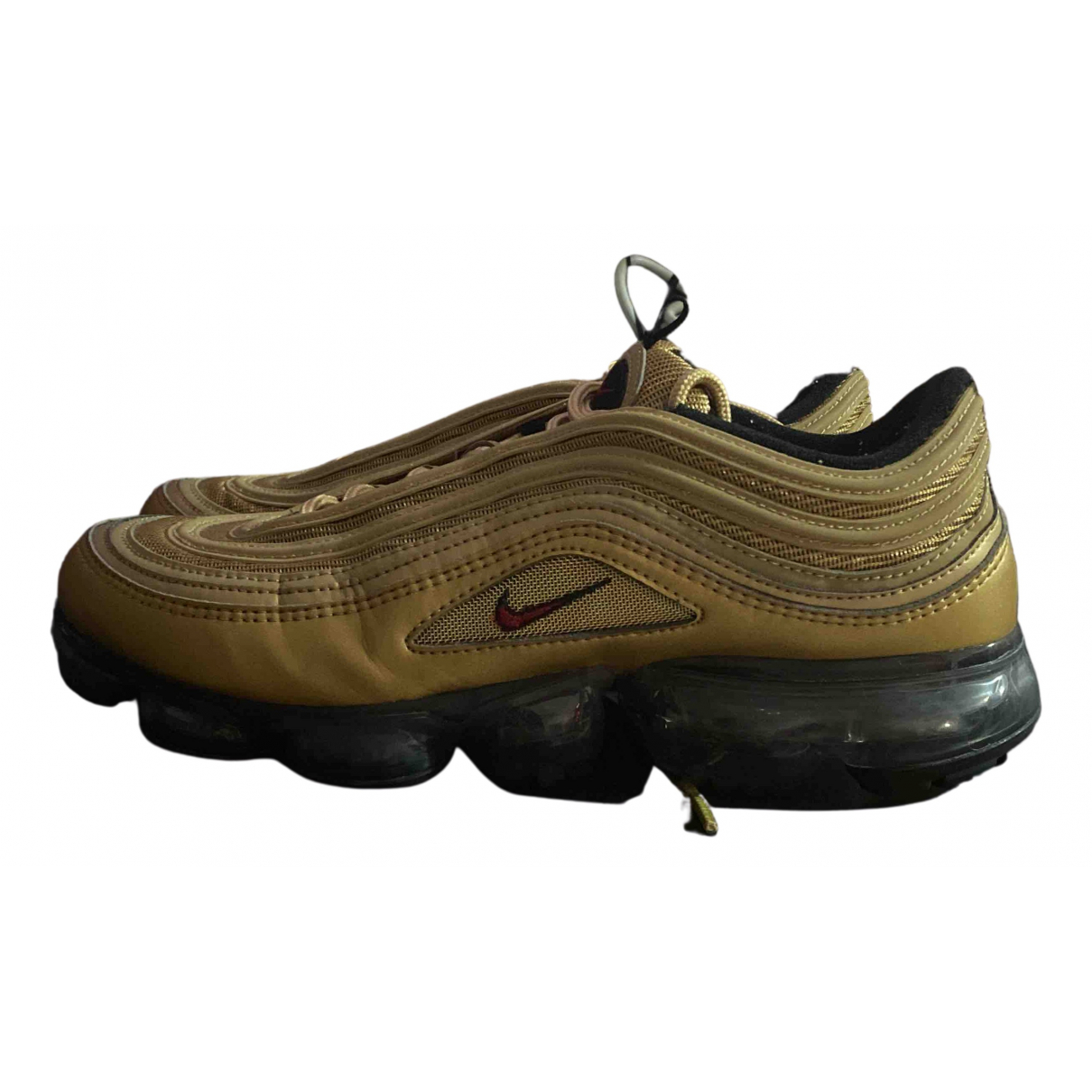 Nike Air Max 97 Sneakers in  Gold Leinen
