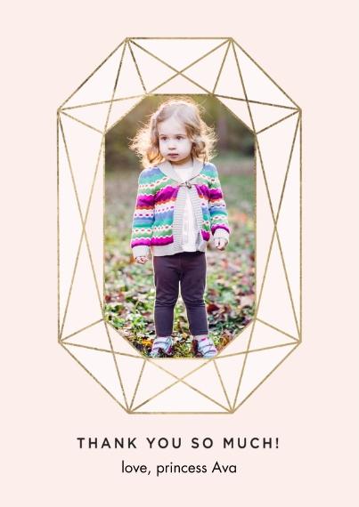 Kids Mail-for-Me Premium 5x7 Flat Card, Card & Stationery -Thank You Set Princess Photo Gemstone