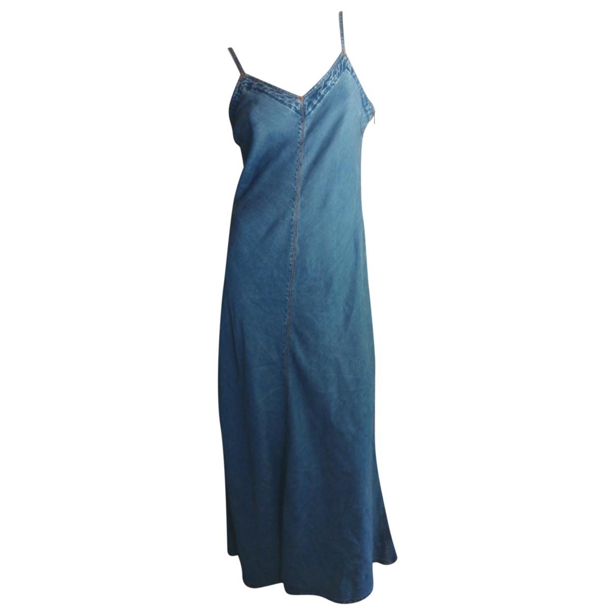 Jean Paul Gaultier - Robe   pour femme en denim - bleu