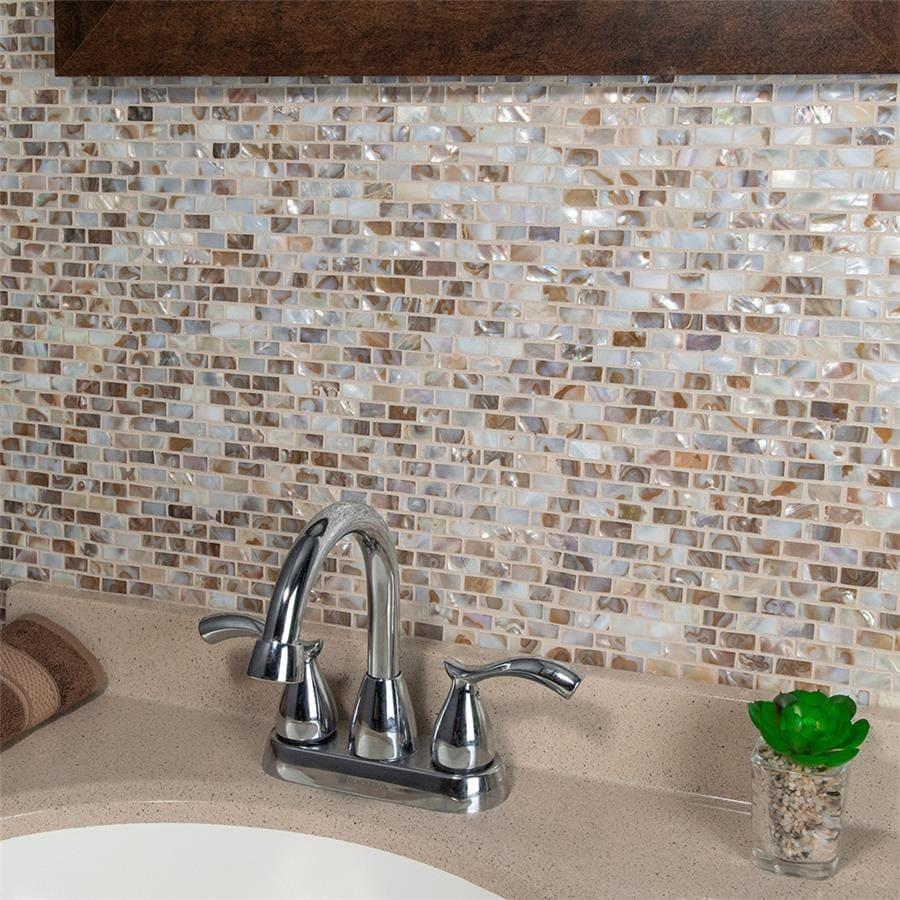 SomerTile 11.75x11.75-inch Seashell Subway Perla Natural Seashell Mosaic Wall Tile (10 tiles/9.6 sqft.) (CASE)