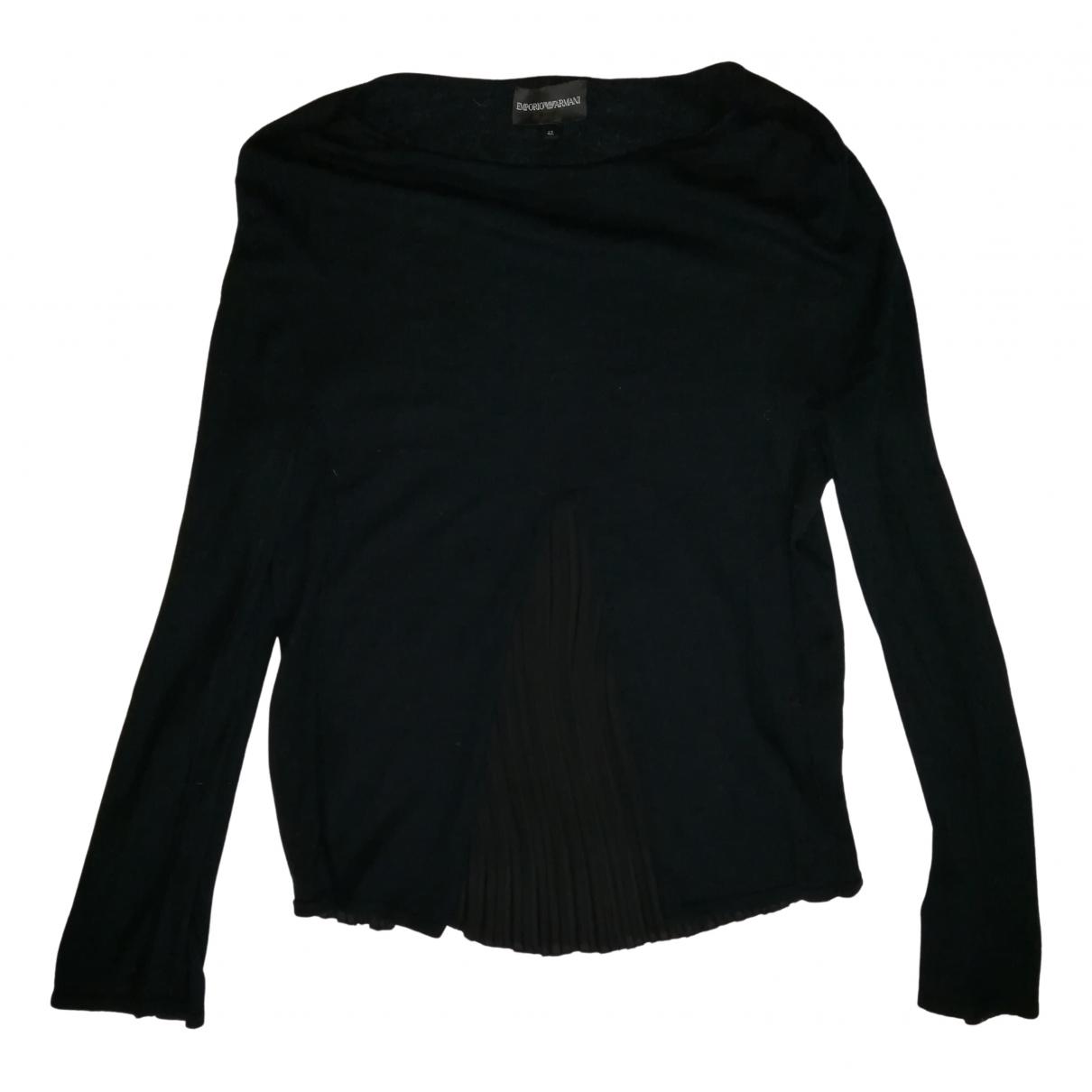 Emporio Armani \N Pullover in  Schwarz Synthetik