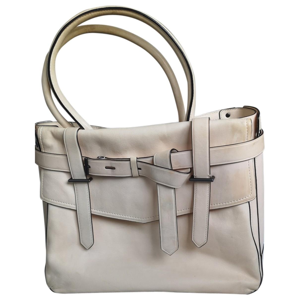 Reed Krakoff \N Handtasche in  Beige Leder