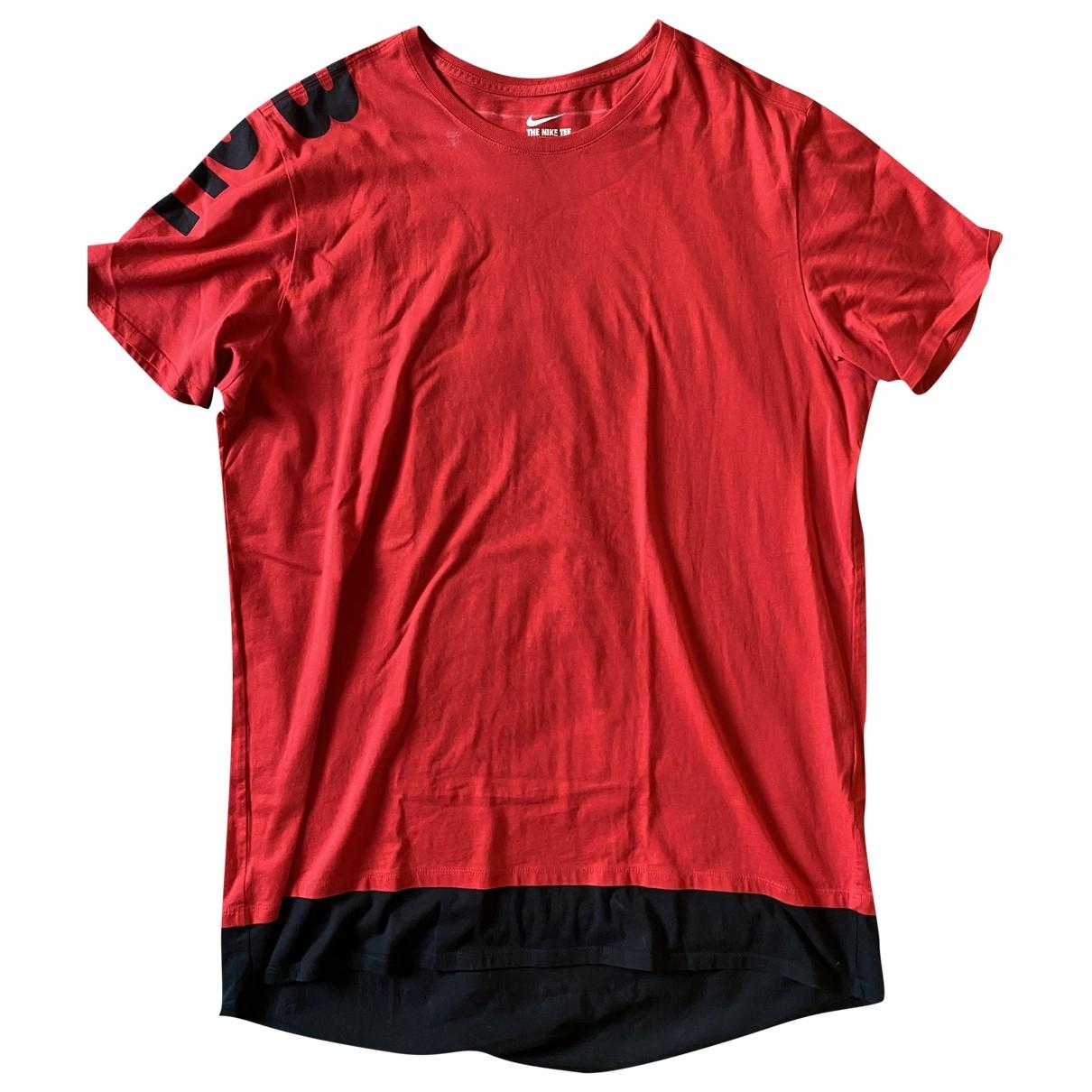 Nike \N Red Cotton T-shirts for Men XXL International
