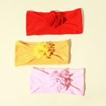 3pcs Toddler Girls Floral Decor Headband