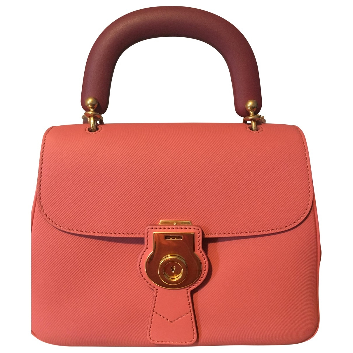 Burberry DK 88 Pink Leather handbag for Women \N