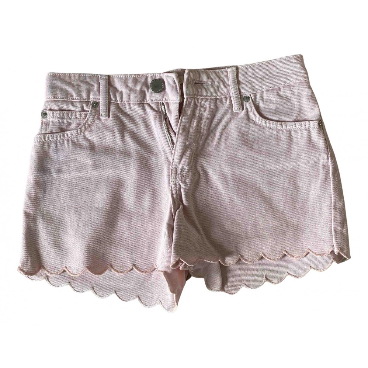 Maje Spring Summer 2019 Pink Cotton Shorts for Women 36 FR