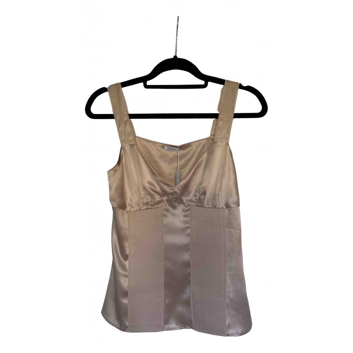 Max Mara - Top   pour femme en soie - rose