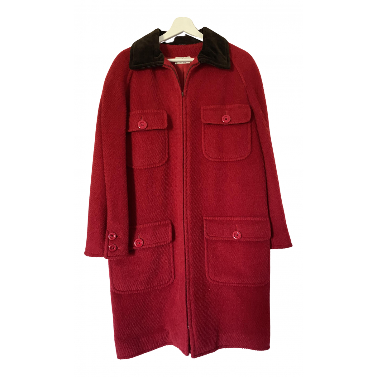 Valentino Garavani \N Red Wool coat for Women 46 IT