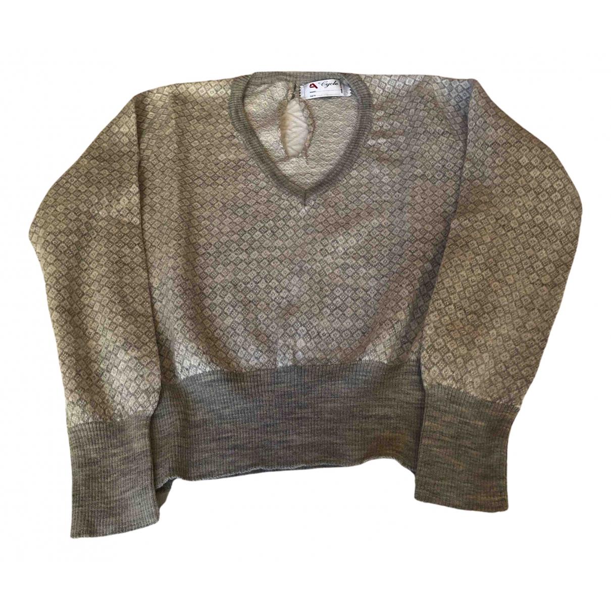 Cycle - Pull   pour femme en laine - gris