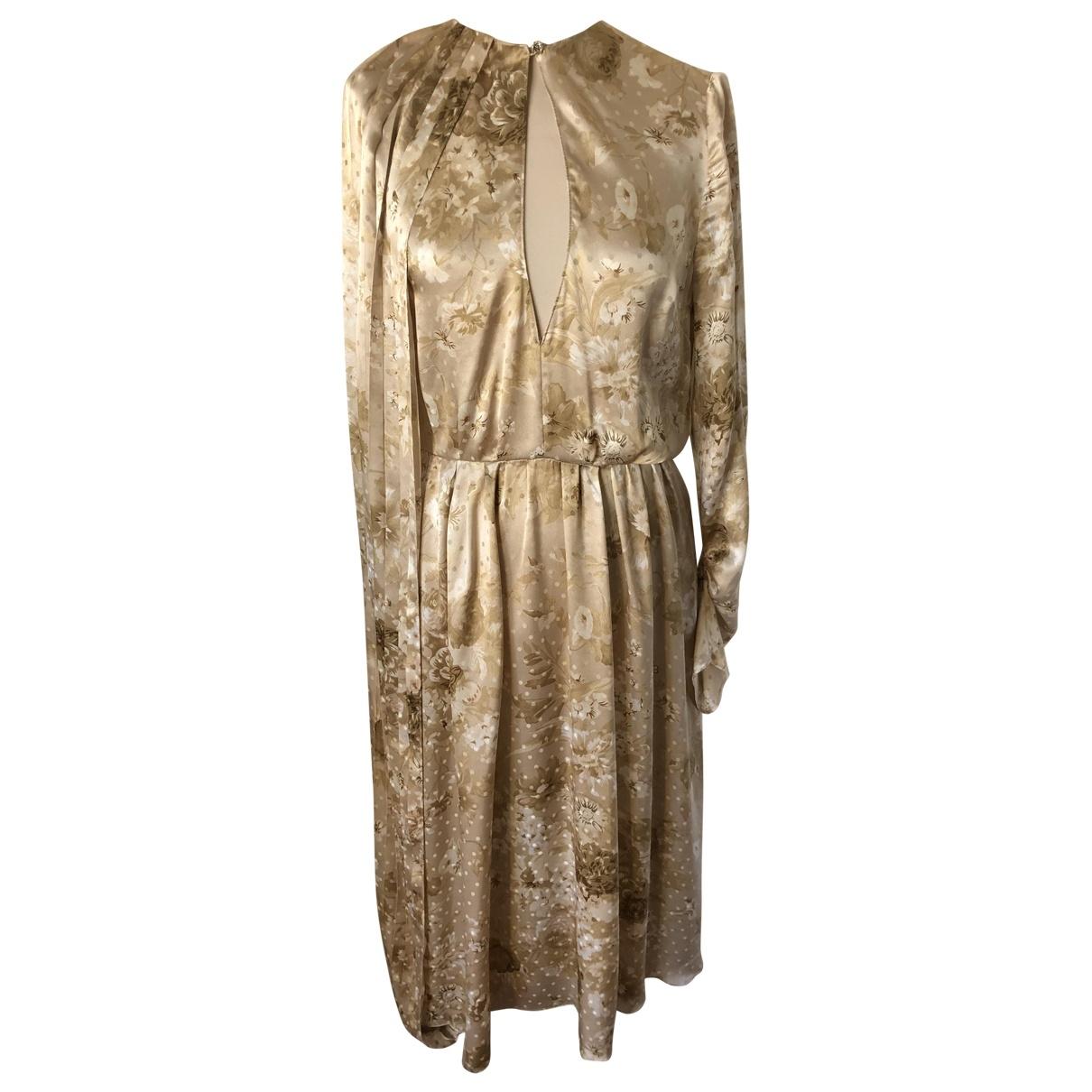 Magda Butrym \N Beige Silk dress for Women 36 FR