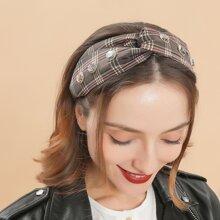 Plaid Pattern Headband