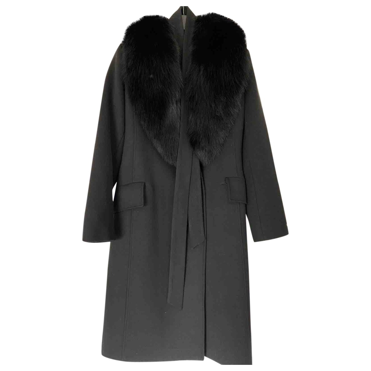 Non Signé / Unsigned \N Black Cashmere coat for Women S International