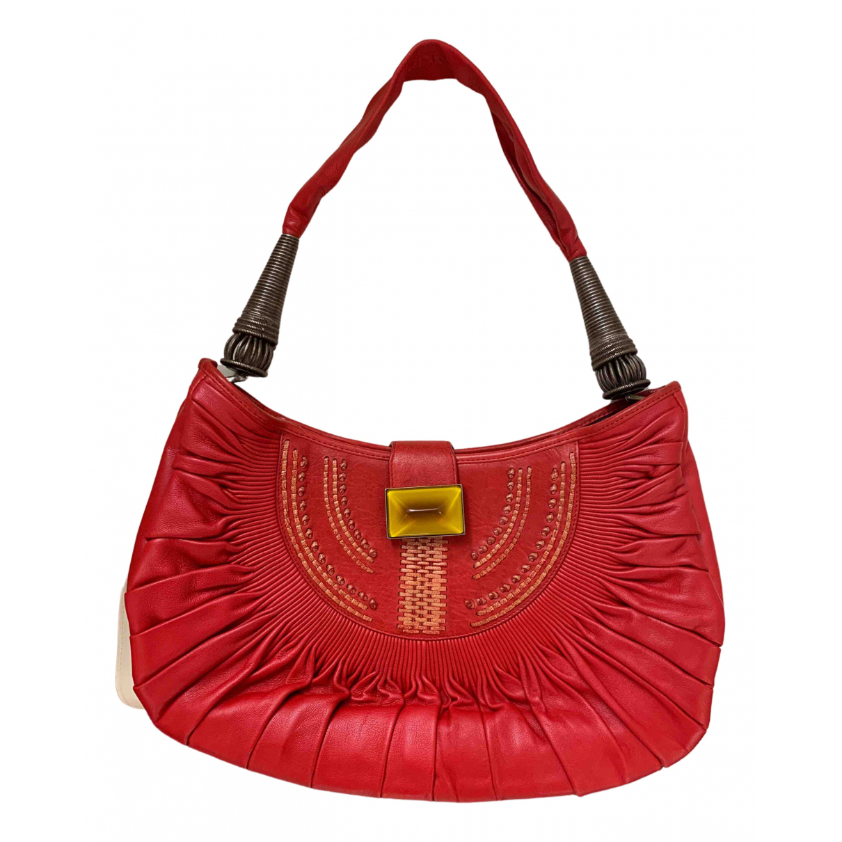Dior - Sac a main   pour femme en cuir - rouge