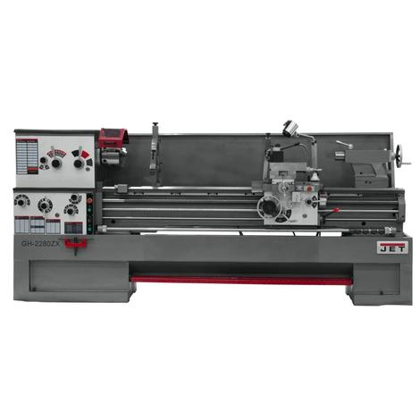 Jet Gear Head 22 x 80 ZX Lathe with 2-Axis Newall Dp700 DRO