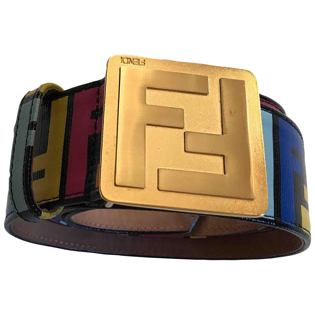 Fendi \N Leather belt for Women 95 cm