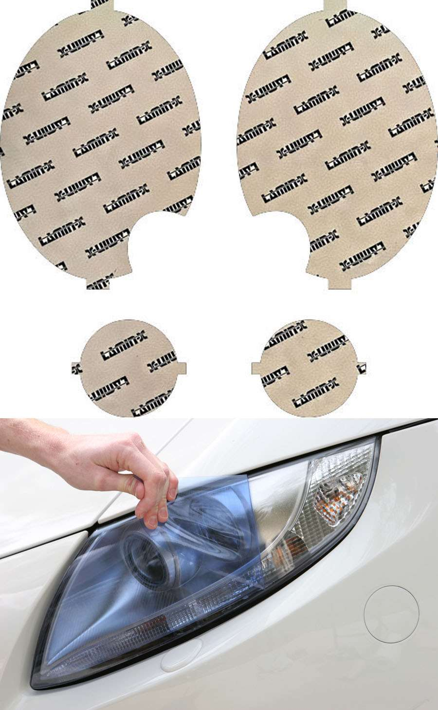 Mini Cooper S 07-13 w/ washersBlue Headlight Covers Lamin-X MN008-1B