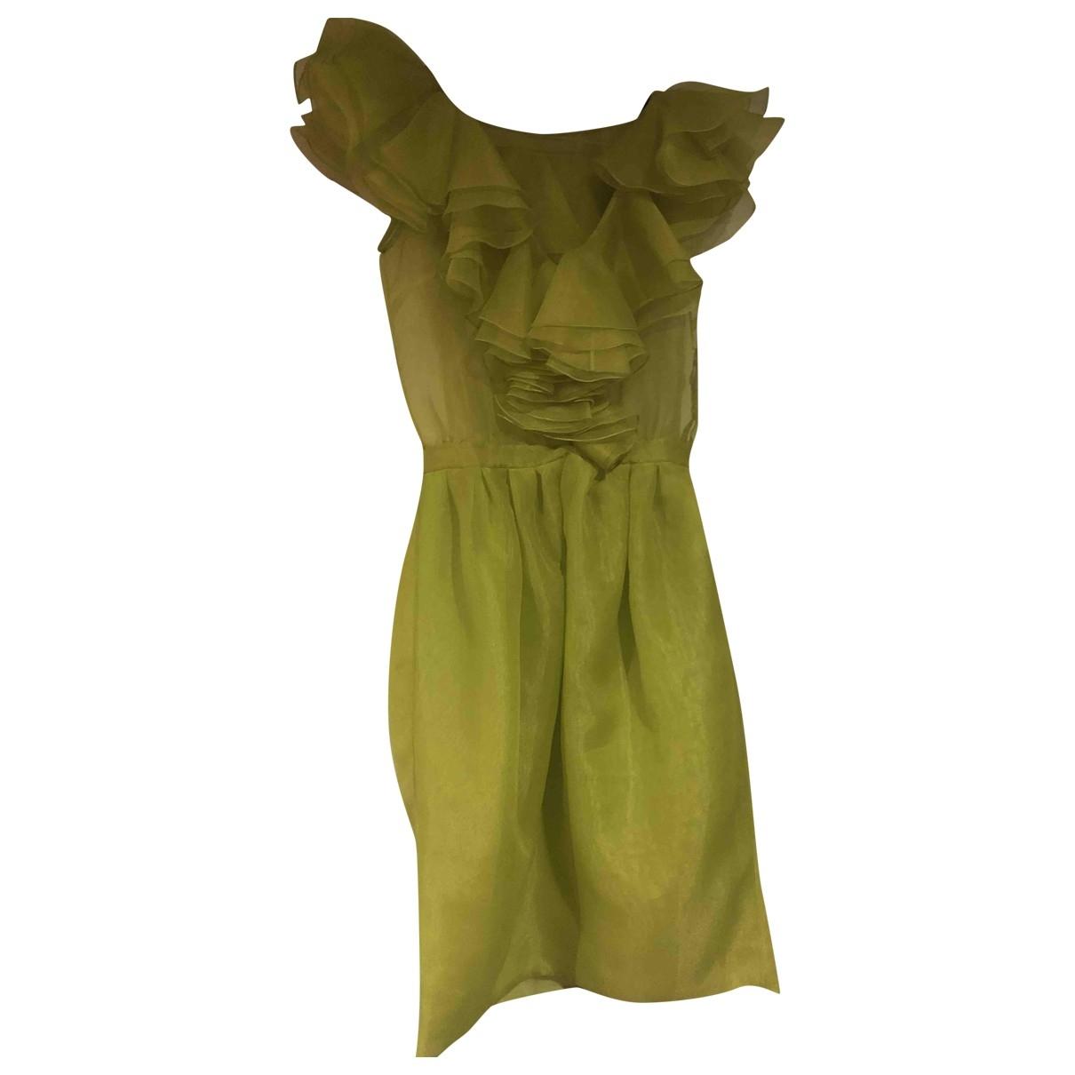 Moschino Cheap And Chic \N Kleid in  Gruen Viskose