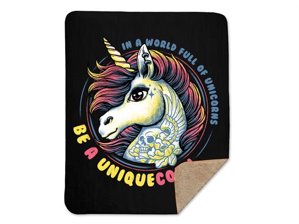 Uniquecorn Sherpa Blanket