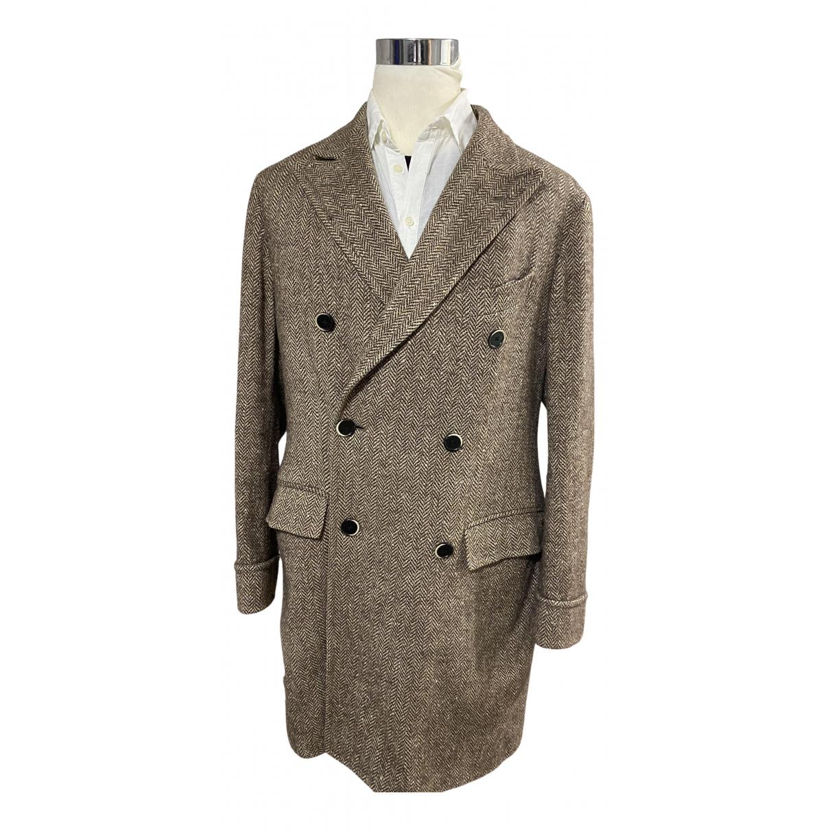 Corneliani \N Maentel in  Beige Wolle