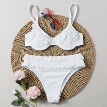 Bikini Badeanzug mit Rueschen und Buegel