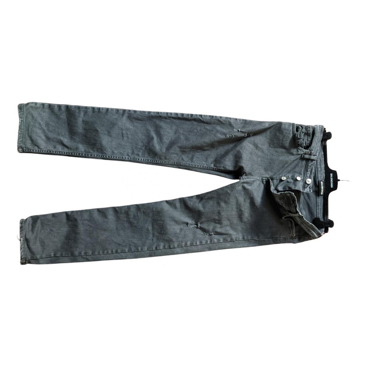 Balenciaga N Black Cotton - elasthane Jeans for Men 29 US