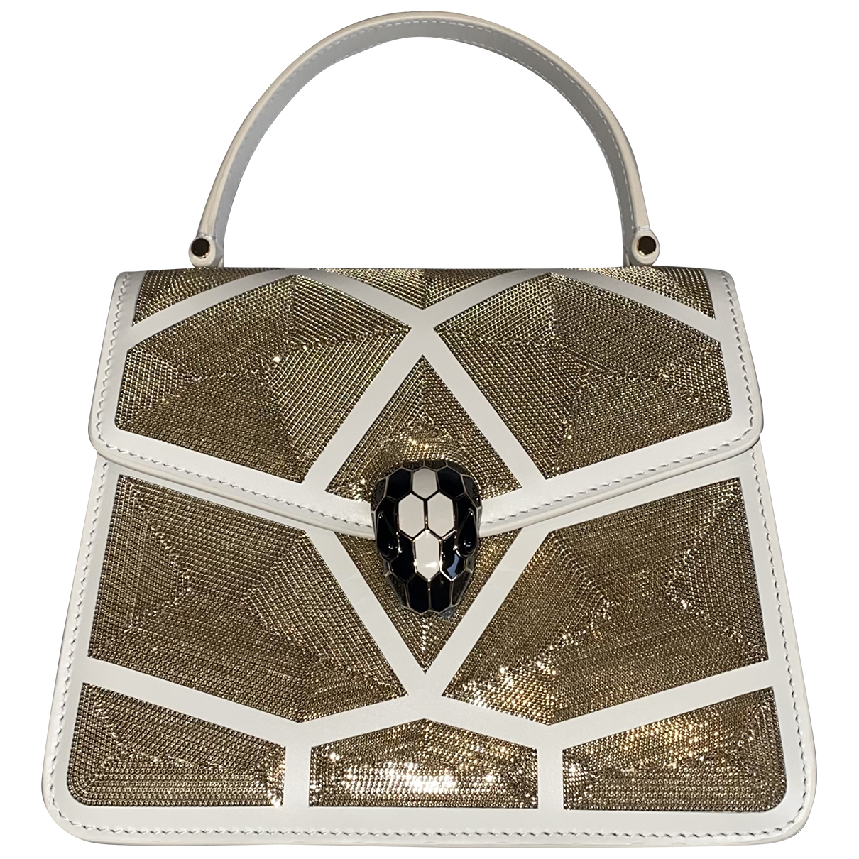 Bvlgari Serpenti Metallic Leather handbag for Women N