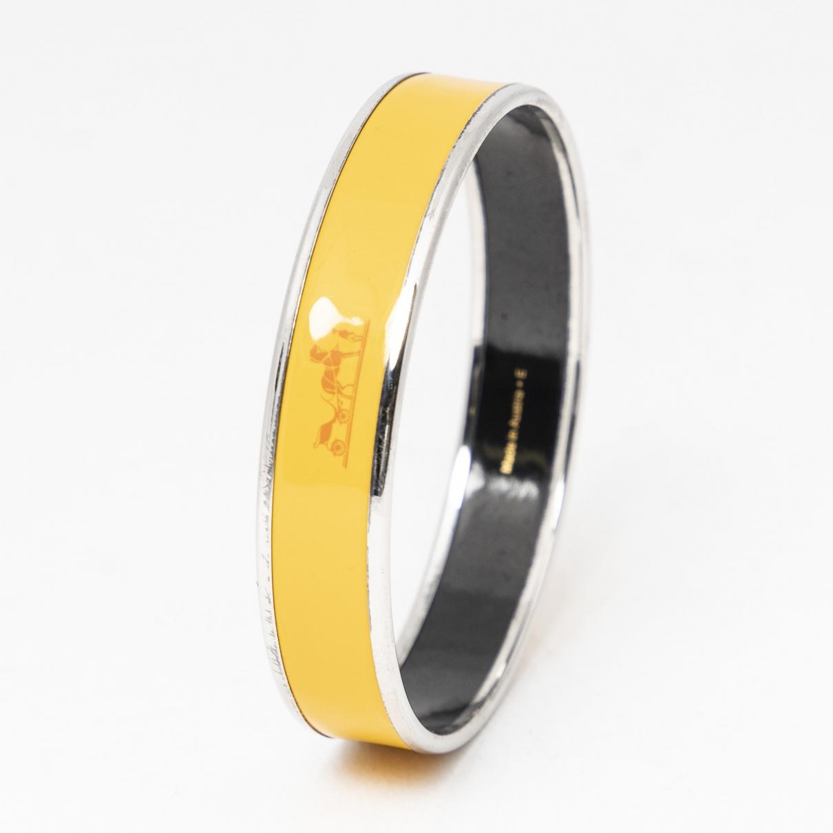 Hermes \N Armband in  Gelb Leder