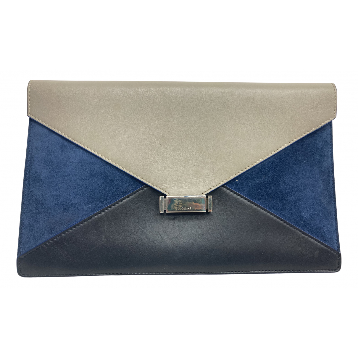 Celine Diamond Clutch Clutch in  Bunt Leder