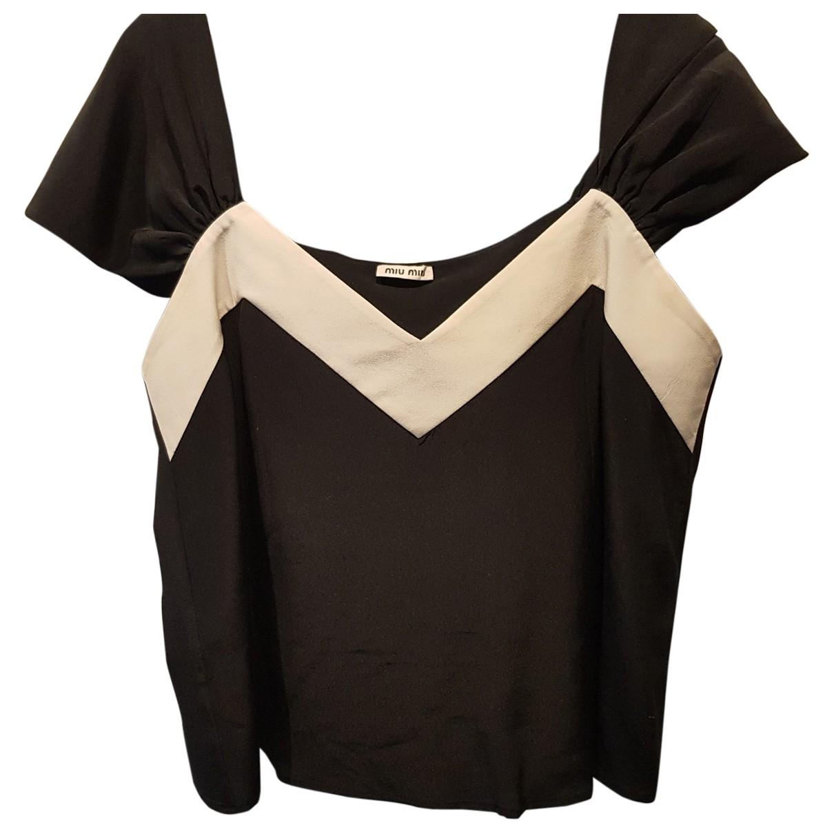 Miu Miu - Top   pour femme en soie - noir
