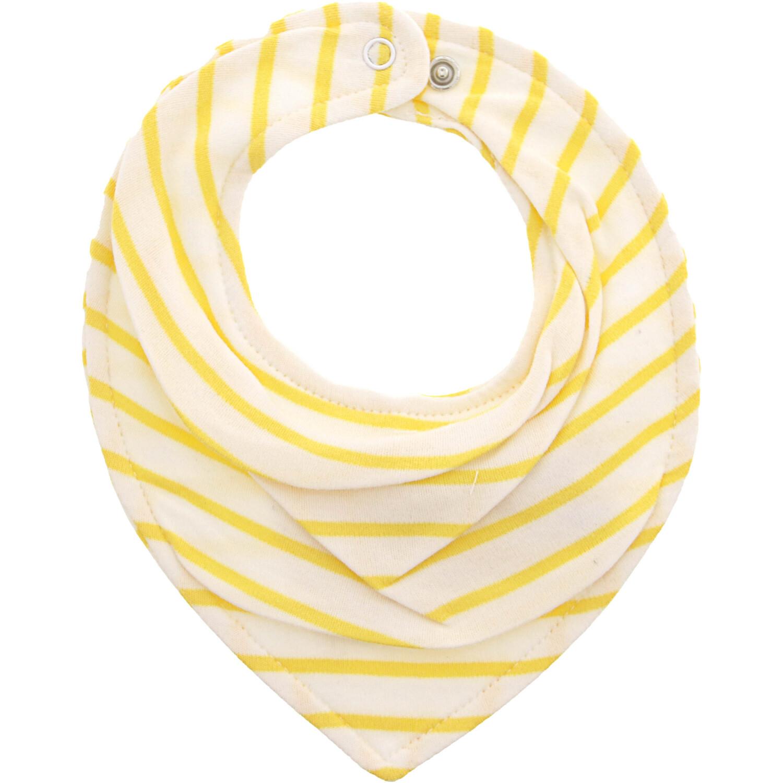 Janie And Jack White / Yellow Striped Bandana Bib - One Size