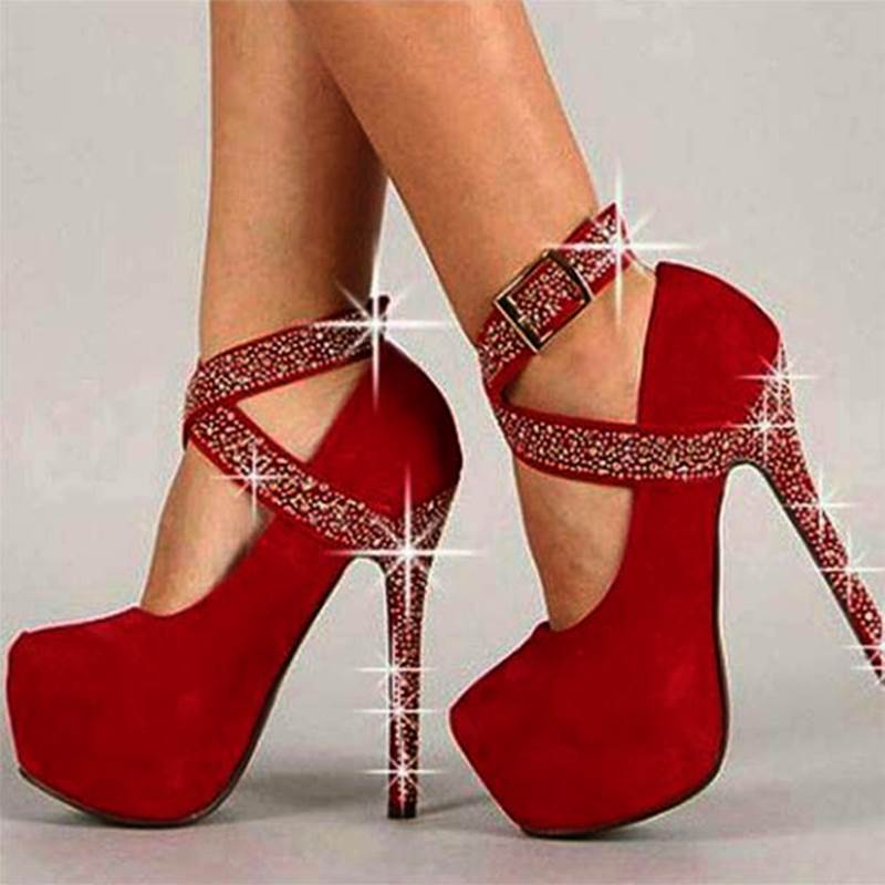 Ericdress Fashion Ankle Strap Stiletto Heel Women's Prom Shoes