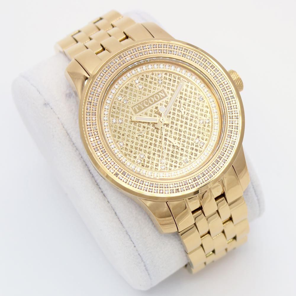 Tycoon 1.00cttw Genuine Diamond Watch in Gold
