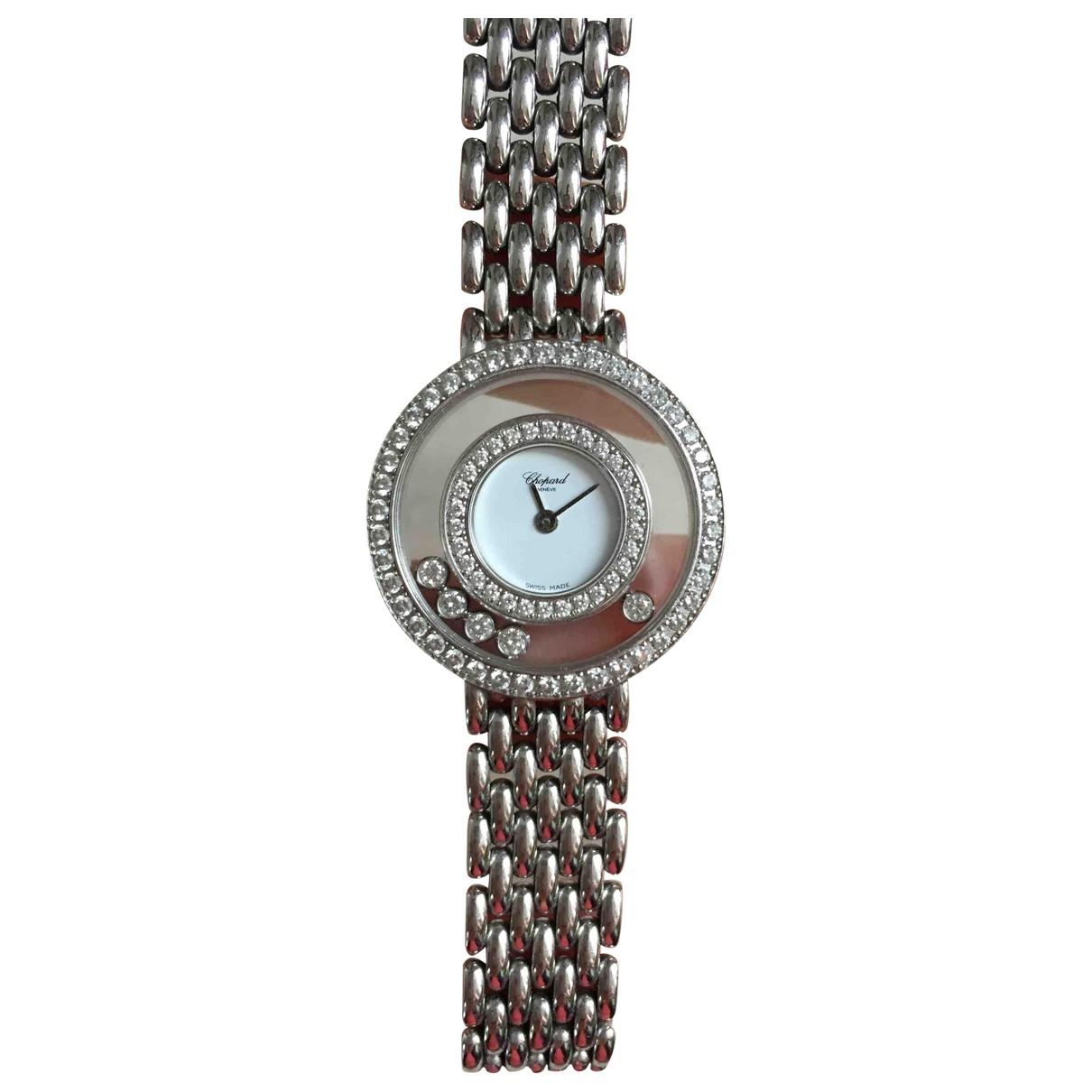 Chopard Happy Diamonds Uhr in  Weiss Weissgold