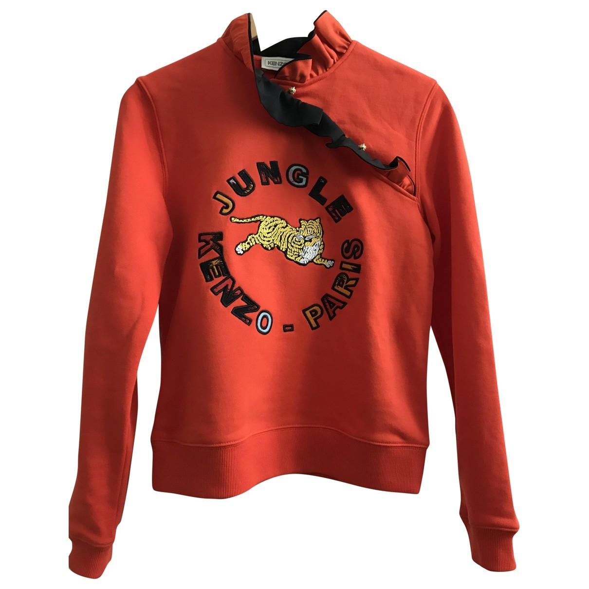 Kenzo X H&m - Pull   pour femme en coton - orange