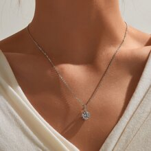 Rhinestone Charm Necklace