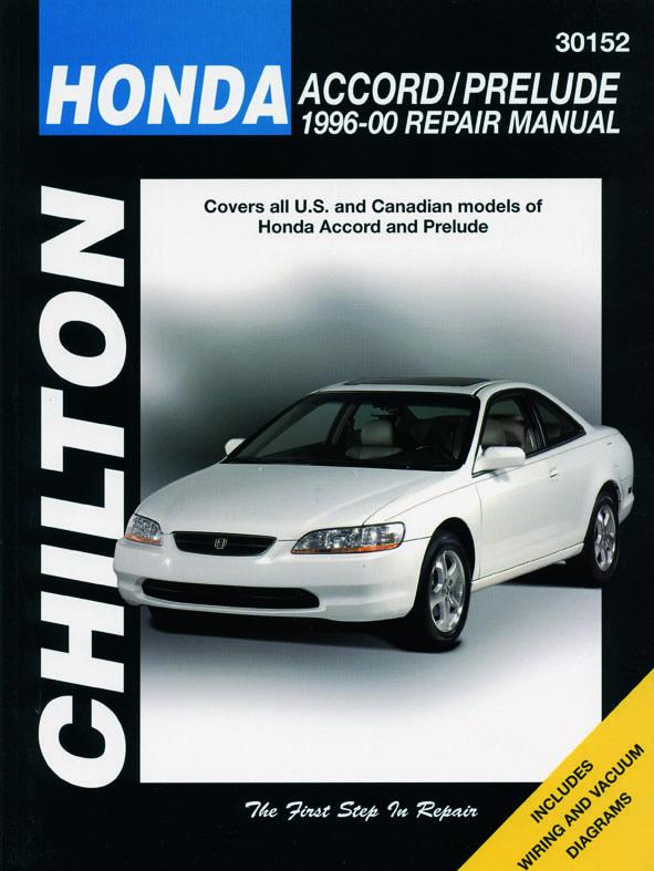 Honda from (1996-00) for of Honda Accord & Prelude Chilton Repair Manual (USA)