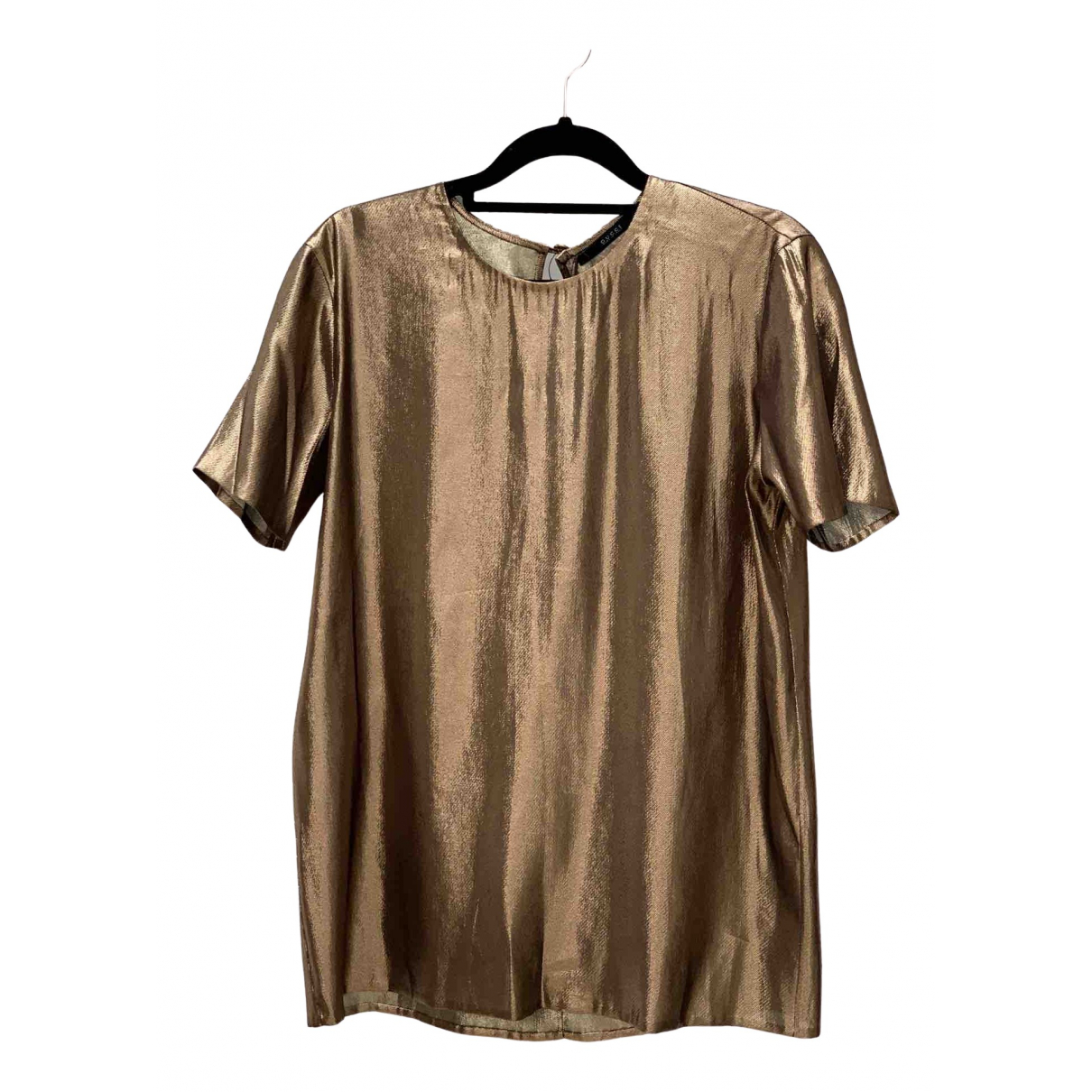 Gucci \N Gold Silk  top for Women 42 IT