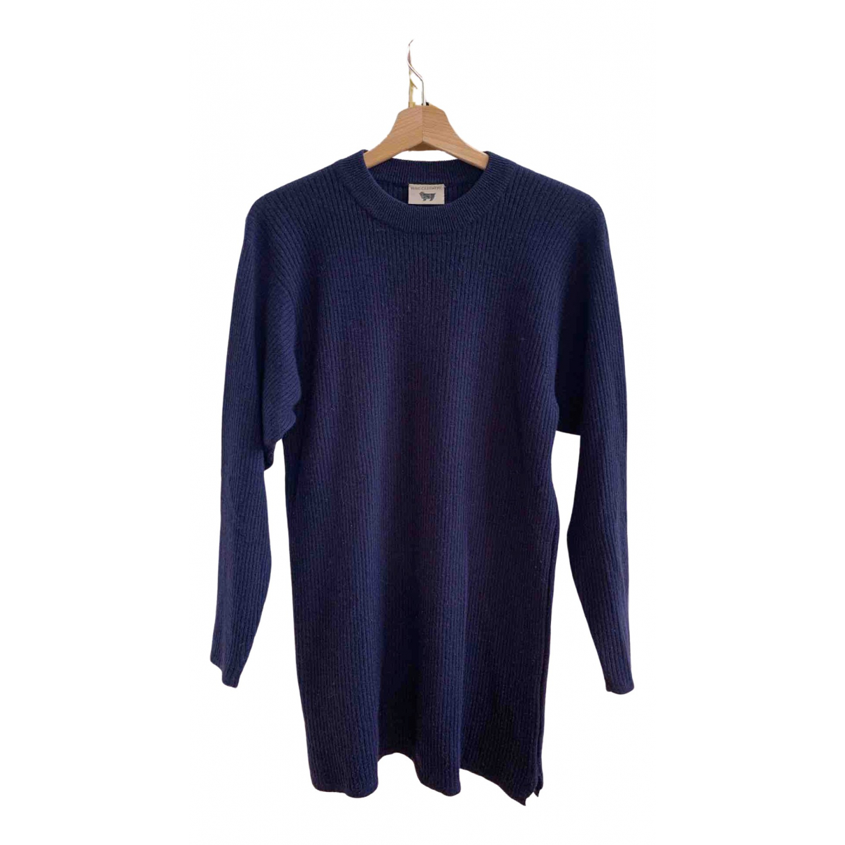 Non Signé / Unsigned Oversize Blue Cashmere Knitwear for Women M International