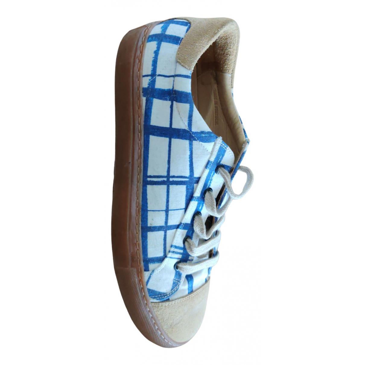Carven \N Sneakers in  Blau Leinen