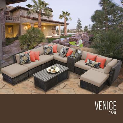 VENICE-10a Venice 10 Piece Outdoor Wicker Patio Furniture Set 10a with 1 Cover in