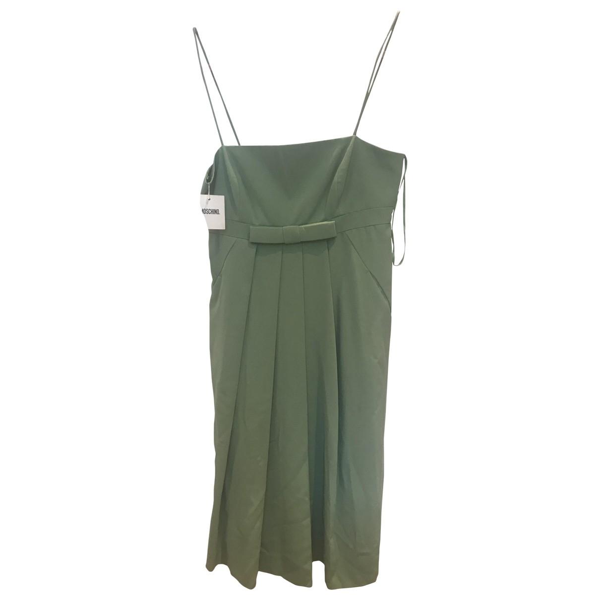 Moschino \N Kleid in  Gruen Baumwolle