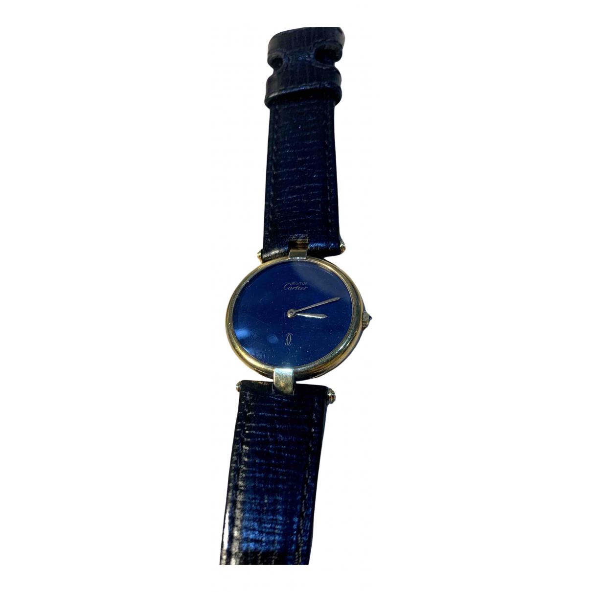Cartier - Montre Must 21 pour femme en vermeil - bleu