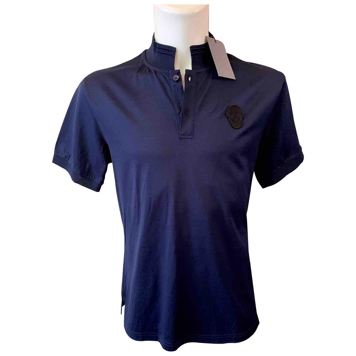 Alexander Mcqueen - Polos   pour homme en coton - bleu